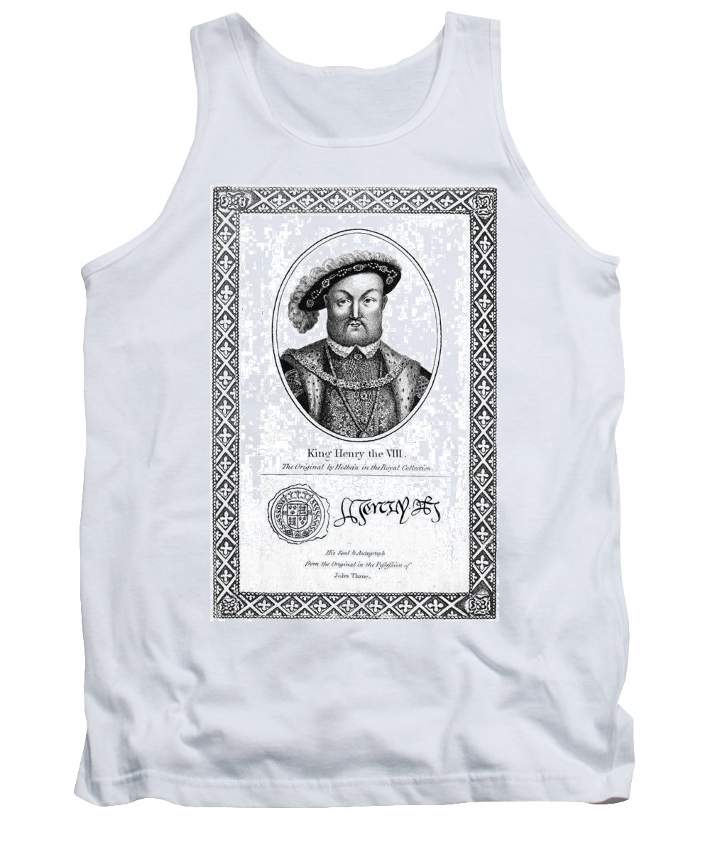 16th Century Tank Top featuring the painting Henry Viii (1491-1547) by Granger