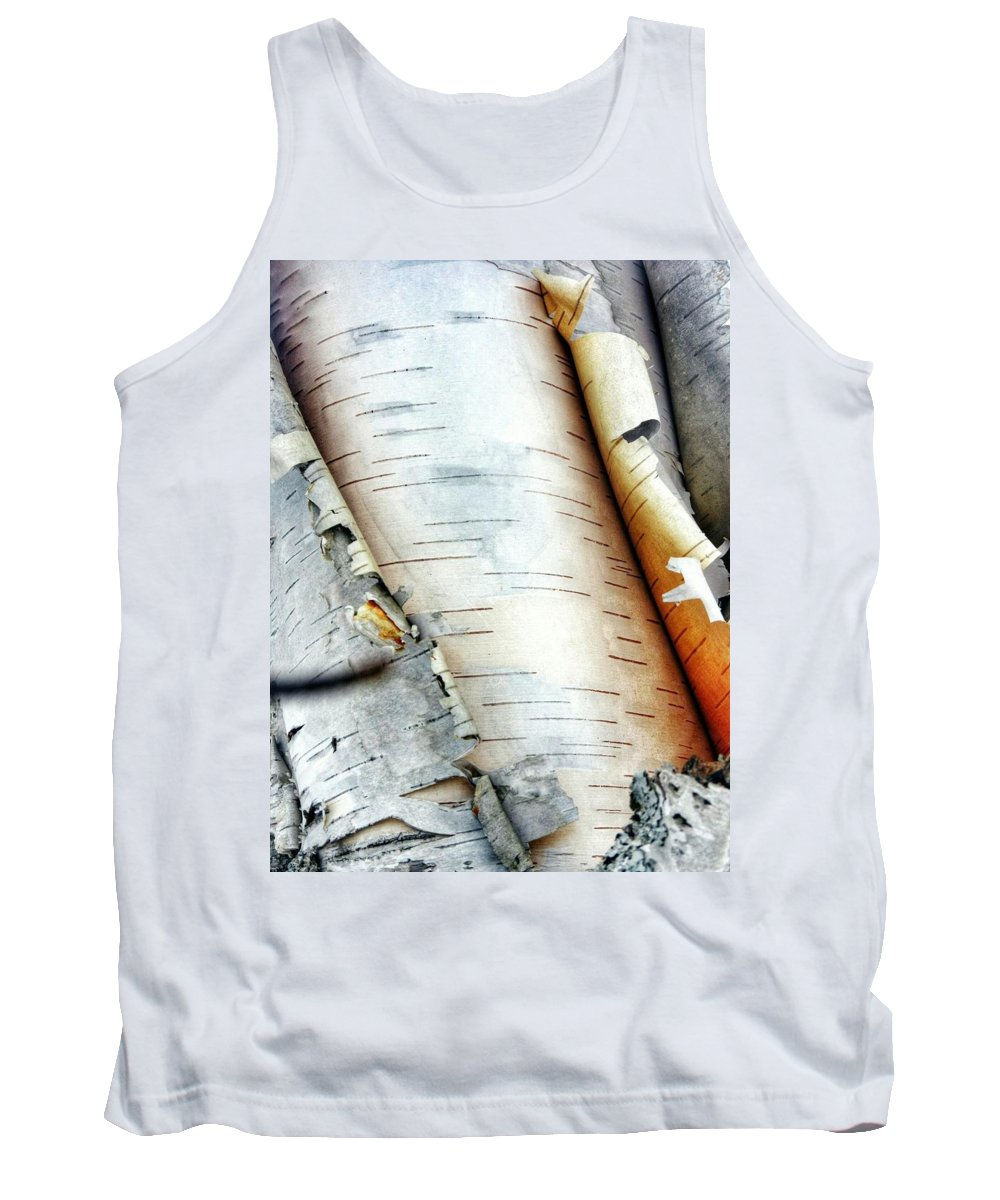 Keweenaw Tank Top featuring the photograph Unraveling Birch by Scott Wendt Tom Wierciak