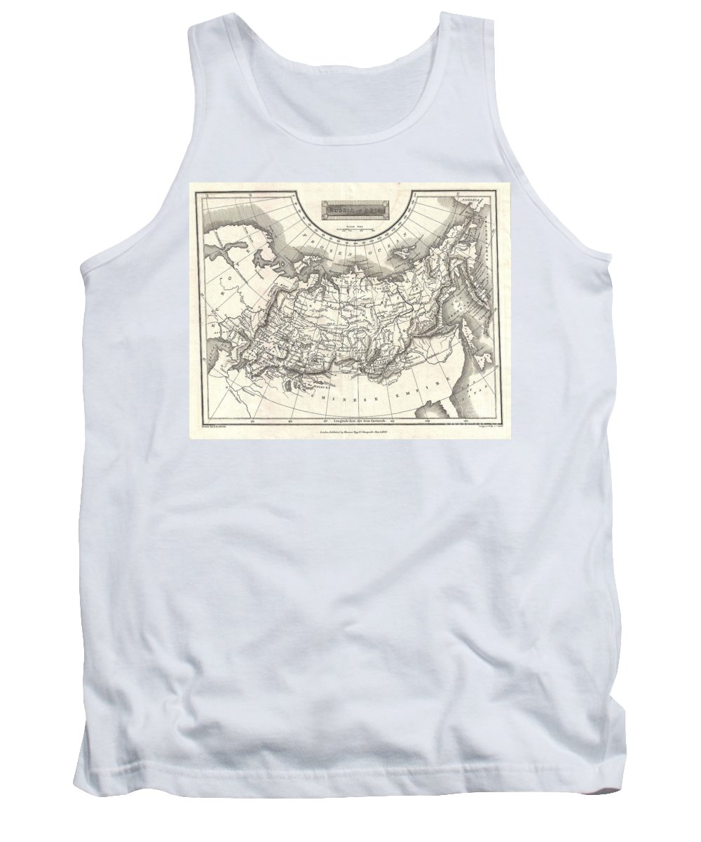 This Is A Fine 1826 Map Of Russia In Asia Tank Top featuring the photograph 1826 Assheton Map Of Russia In Asia by Paul Fearn