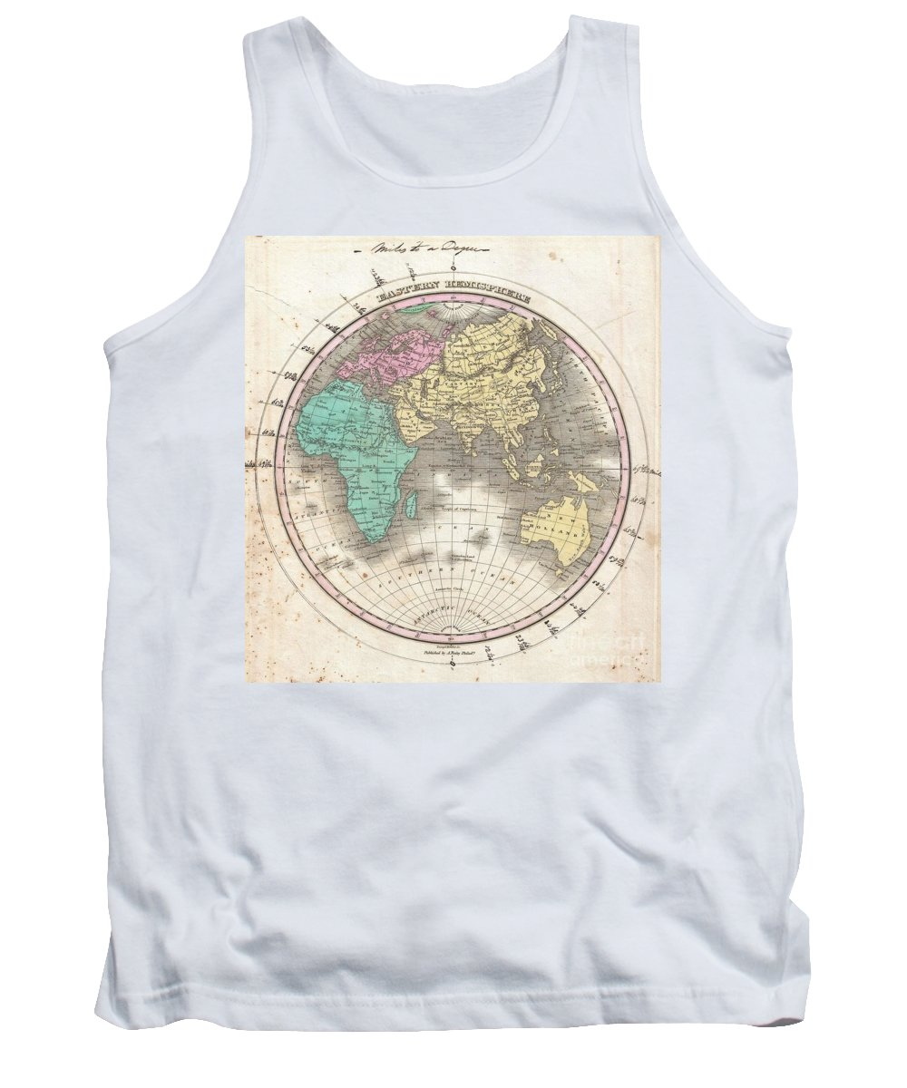 This Is Finley's Desirable 1827 Map Of The Eastern Hemisphere. Includes Africa Tank Top featuring the photograph 1827 Finley Map Of The Eastern Hemisphere by Paul Fearn
