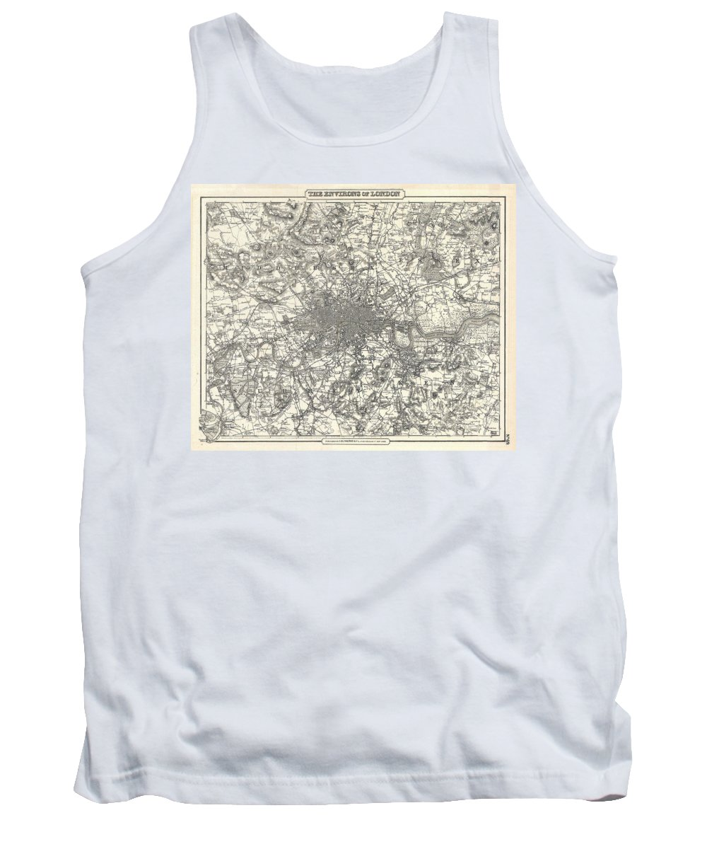 Tank Top featuring the photograph 1855 Colton Map Of London by Paul Fearn