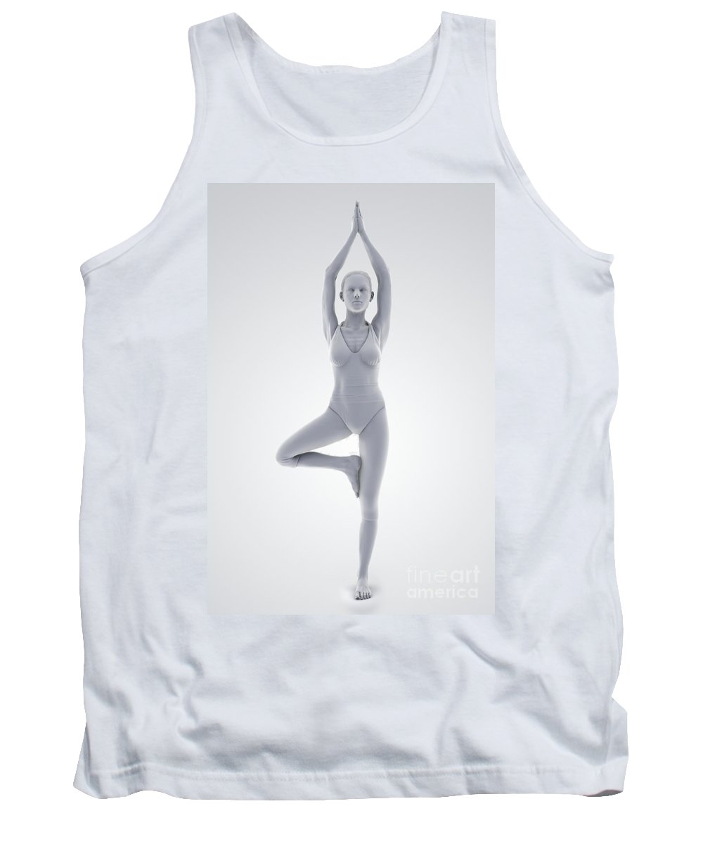Agility Tank Top featuring the photograph Yoga Tree Pose by Science Picture Co