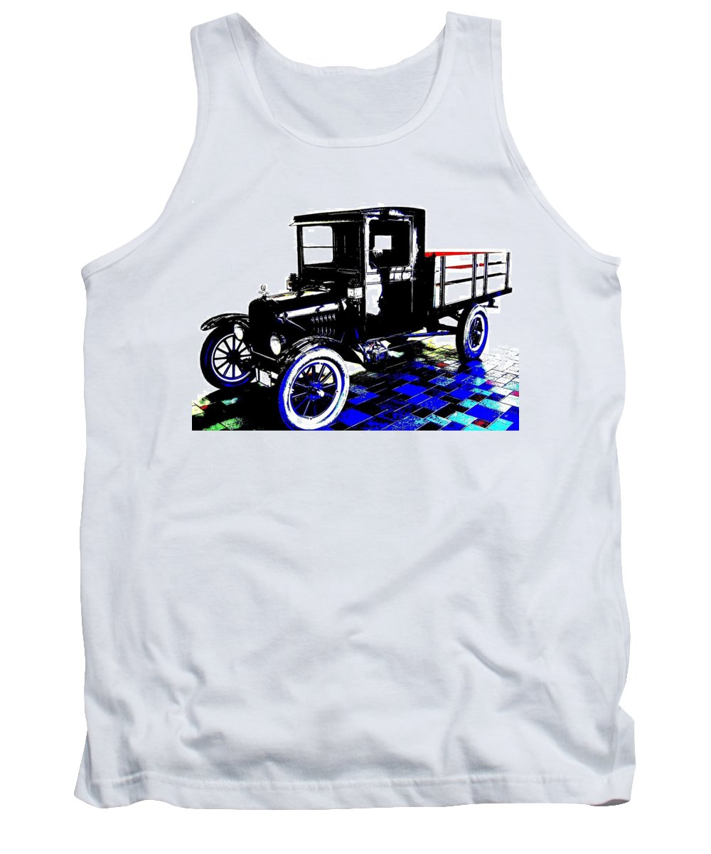 1926 Ford Model T Stakebed Tank Top featuring the digital art 1926 Ford Model T Stakebed by Will Borden