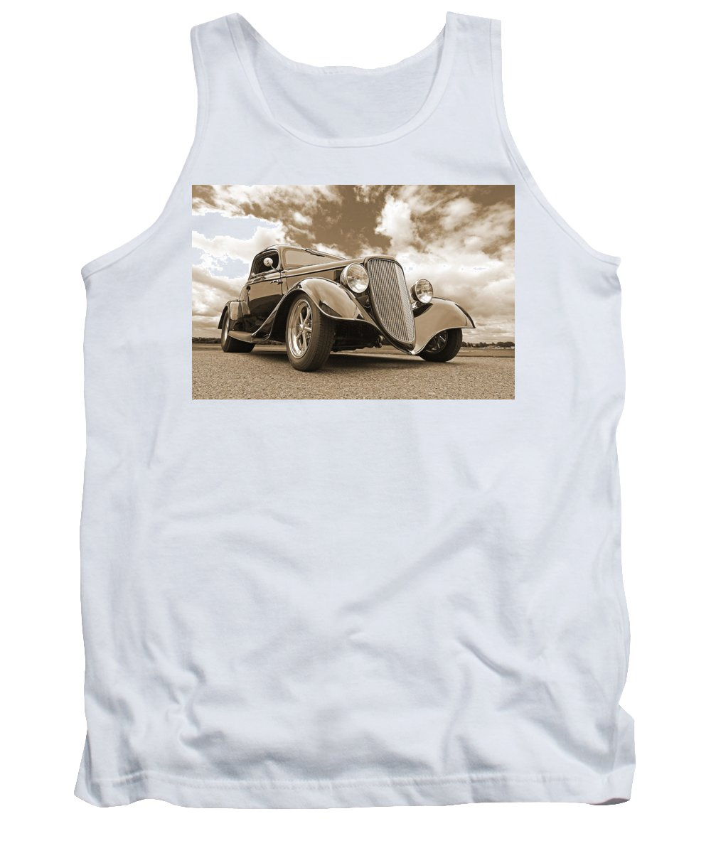 Ford Coupe Tank Top featuring the photograph 1934 Ford Coupe In Sepia by Gill Billington
