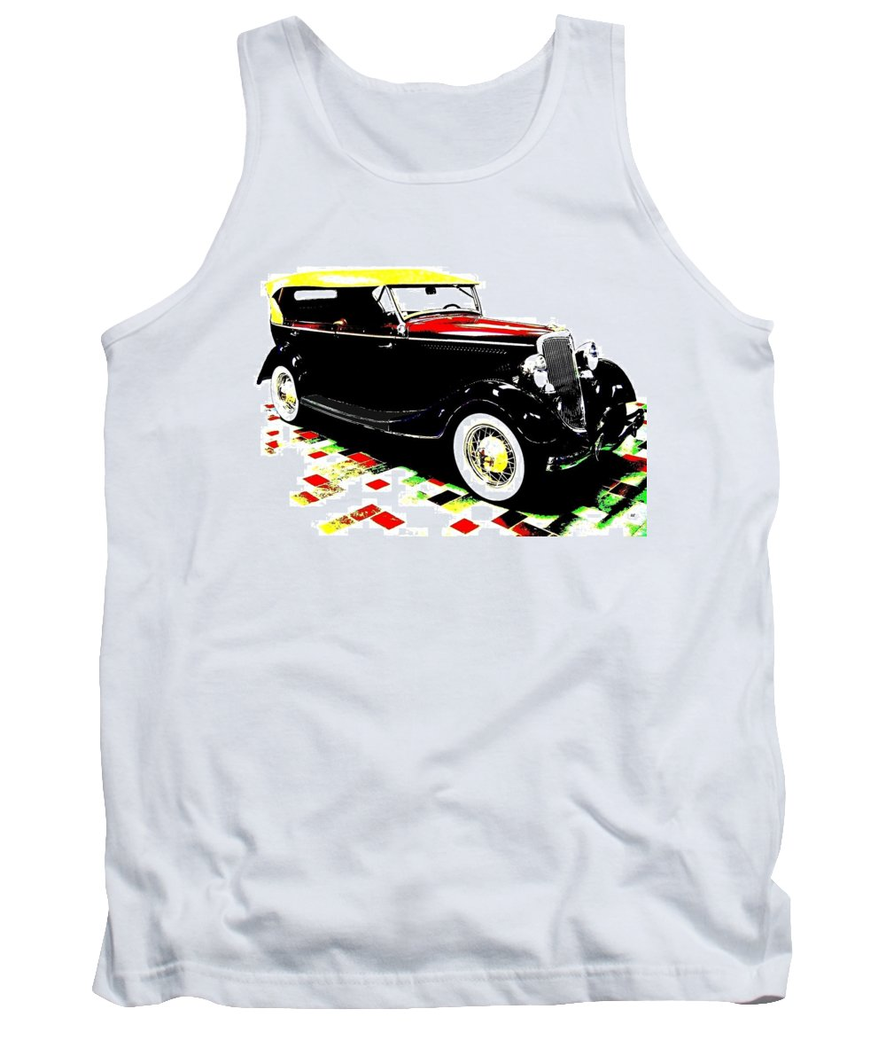 1934 Ford Phaeton V8 Tank Top featuring the digital art 1934 Ford Phaeton V8 by Will Borden