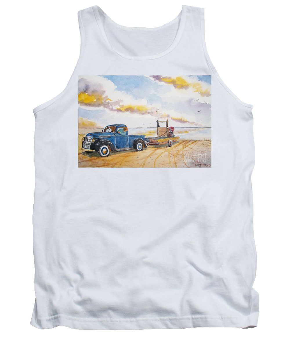 Scenic Landscape Tank Top featuring the painting Yesteryear by Don Hand
