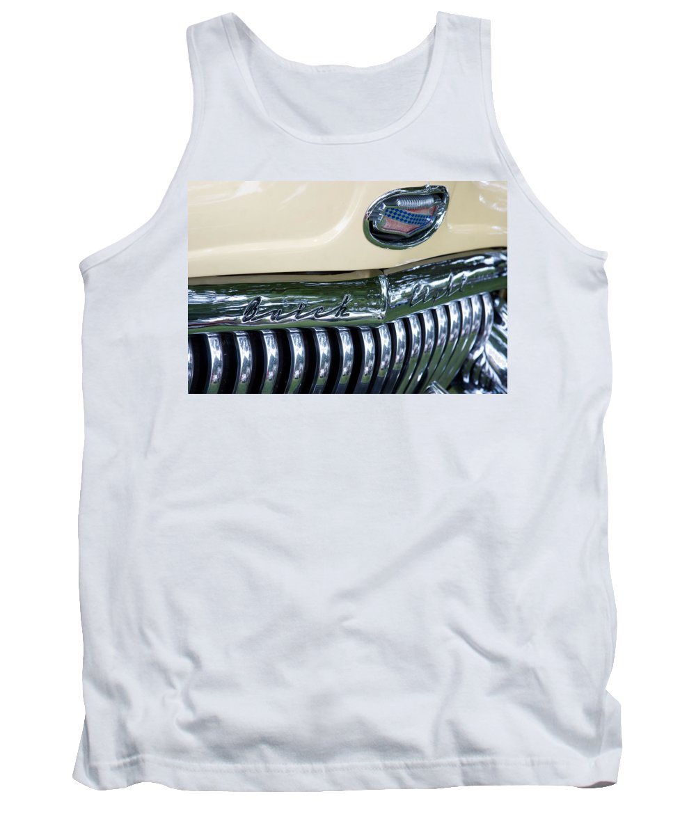 1952 Buick Eight Photographs Tank Top featuring the photograph 1952 Buick Eight Grill by Brooke Roby