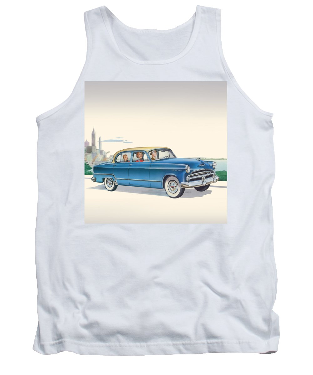 1953 Dodge Coronet Tank Top featuring the painting 1953 Dodge Coronet - Square Format Image by Walt Curlee