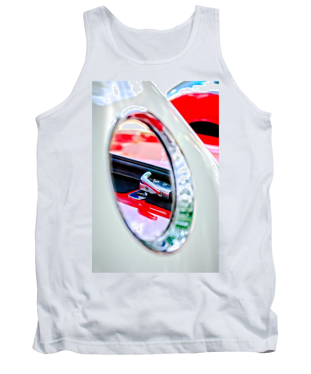 1956 Ford Thunderbird Latch Tank Top featuring the photograph 1956 Ford Thunderbird Latch -417c by Jill Reger
