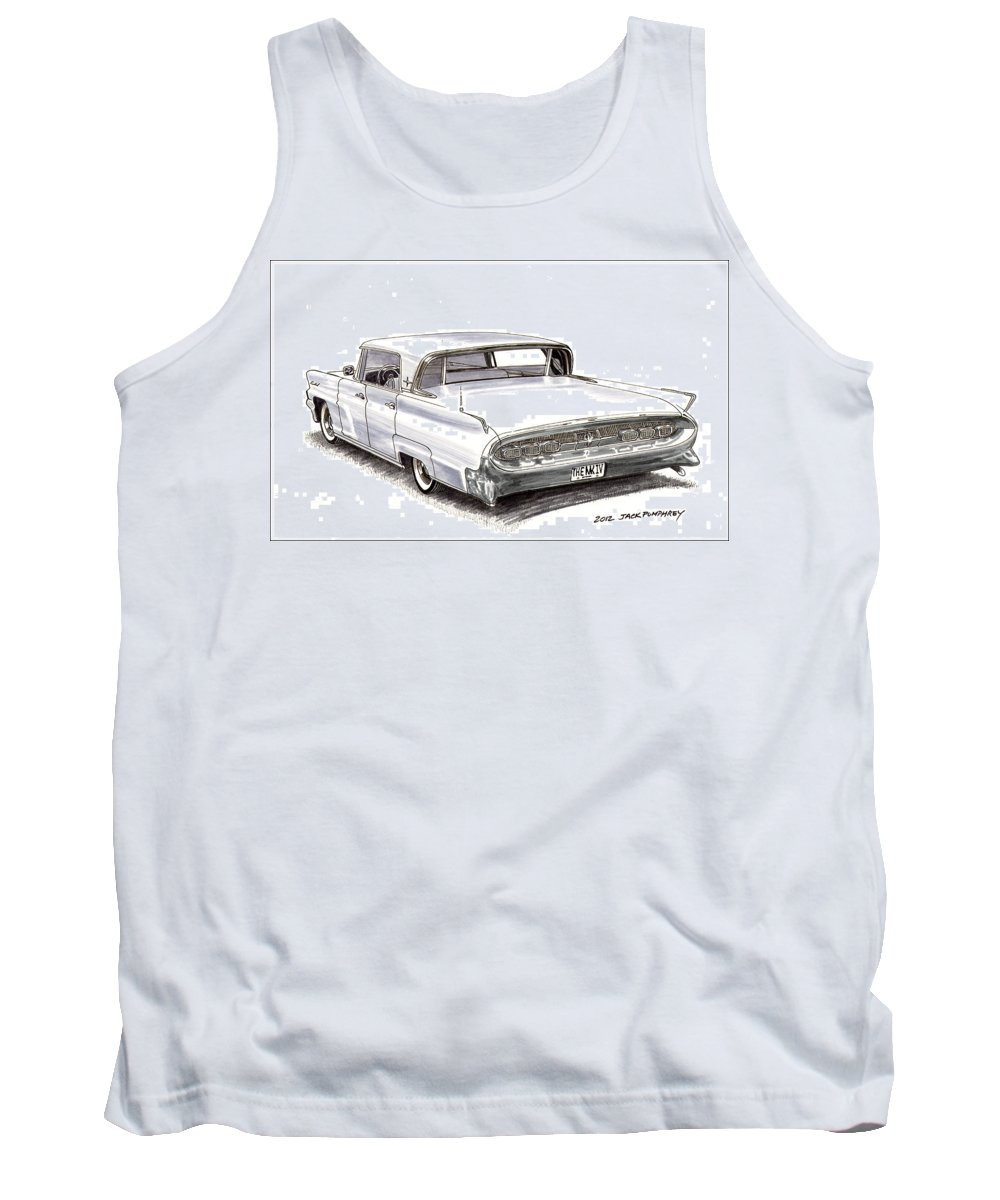 1960 Continental Tank Top featuring the painting Continental by Jack Pumphrey