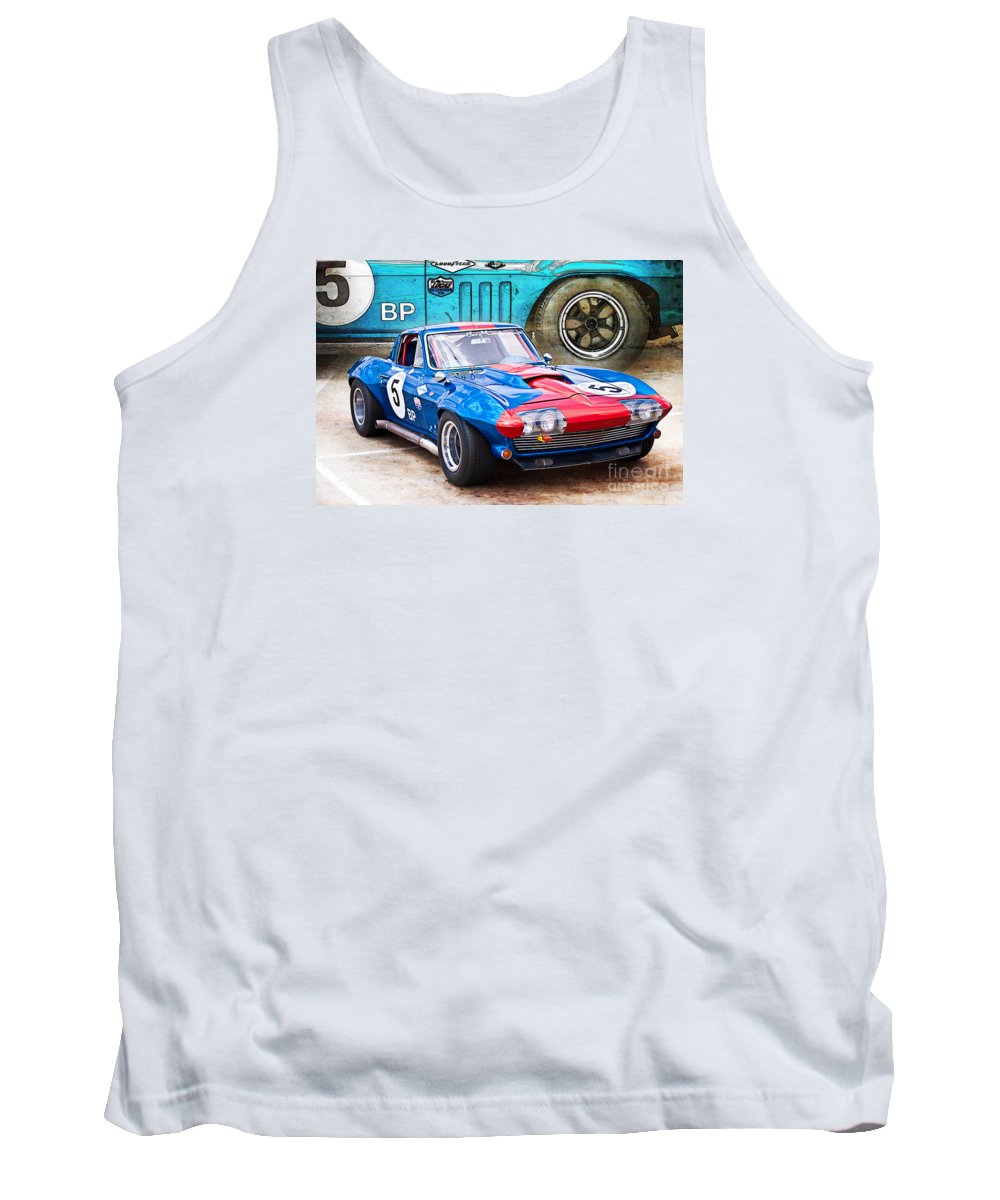 Hsrca Tank Top featuring the photograph 1965 Corvette Front View by Stuart Row