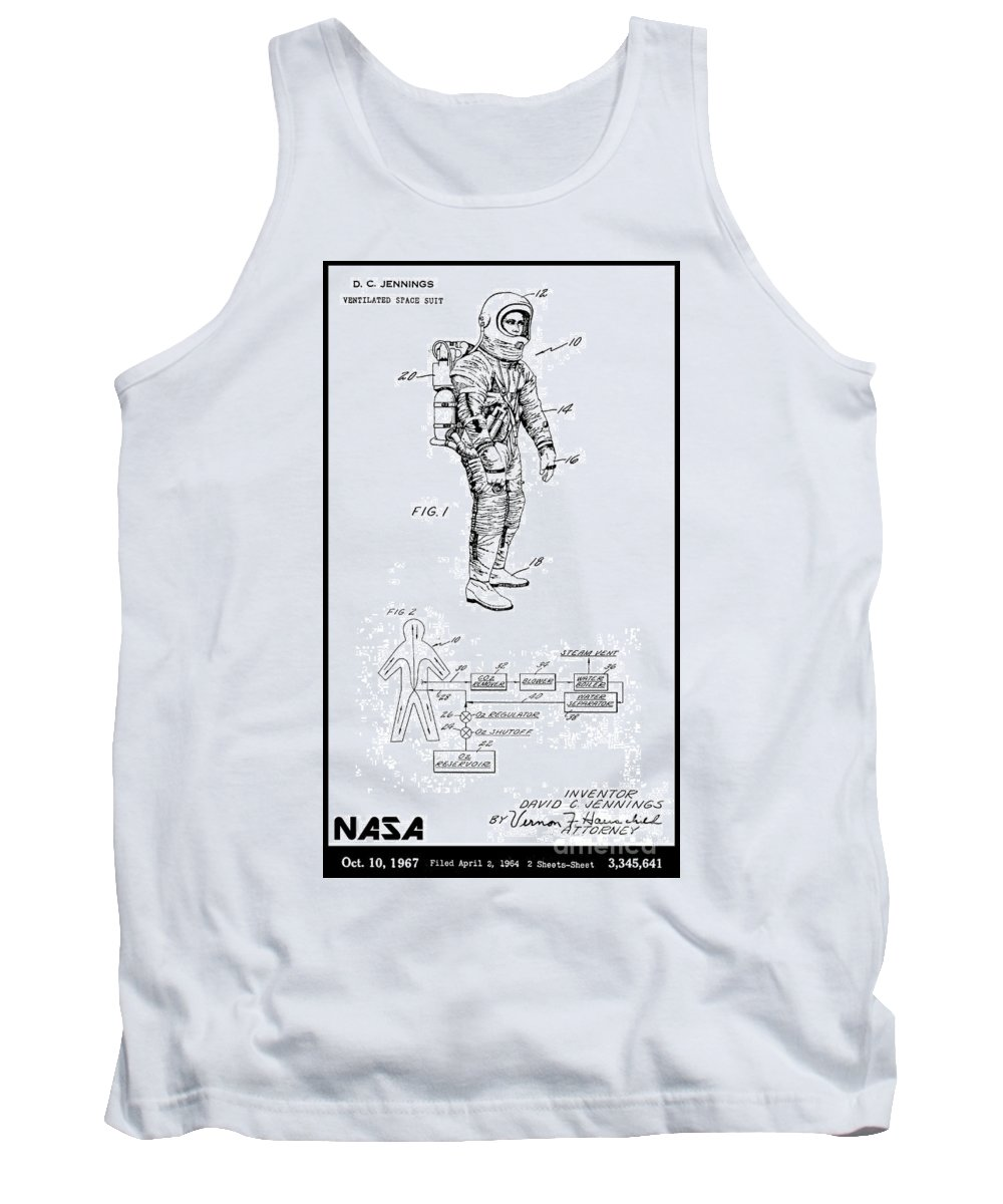 Nasa Tank Top featuring the digital art 1967 Nasa Astronaut Ventilated Space Suit Patent Art 3 by Nishanth Gopinathan