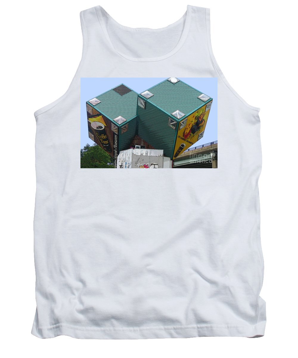 Cube Houses Tank Top featuring the photograph 1996 Cube Houses On Eastern Avenue by Nina Silver