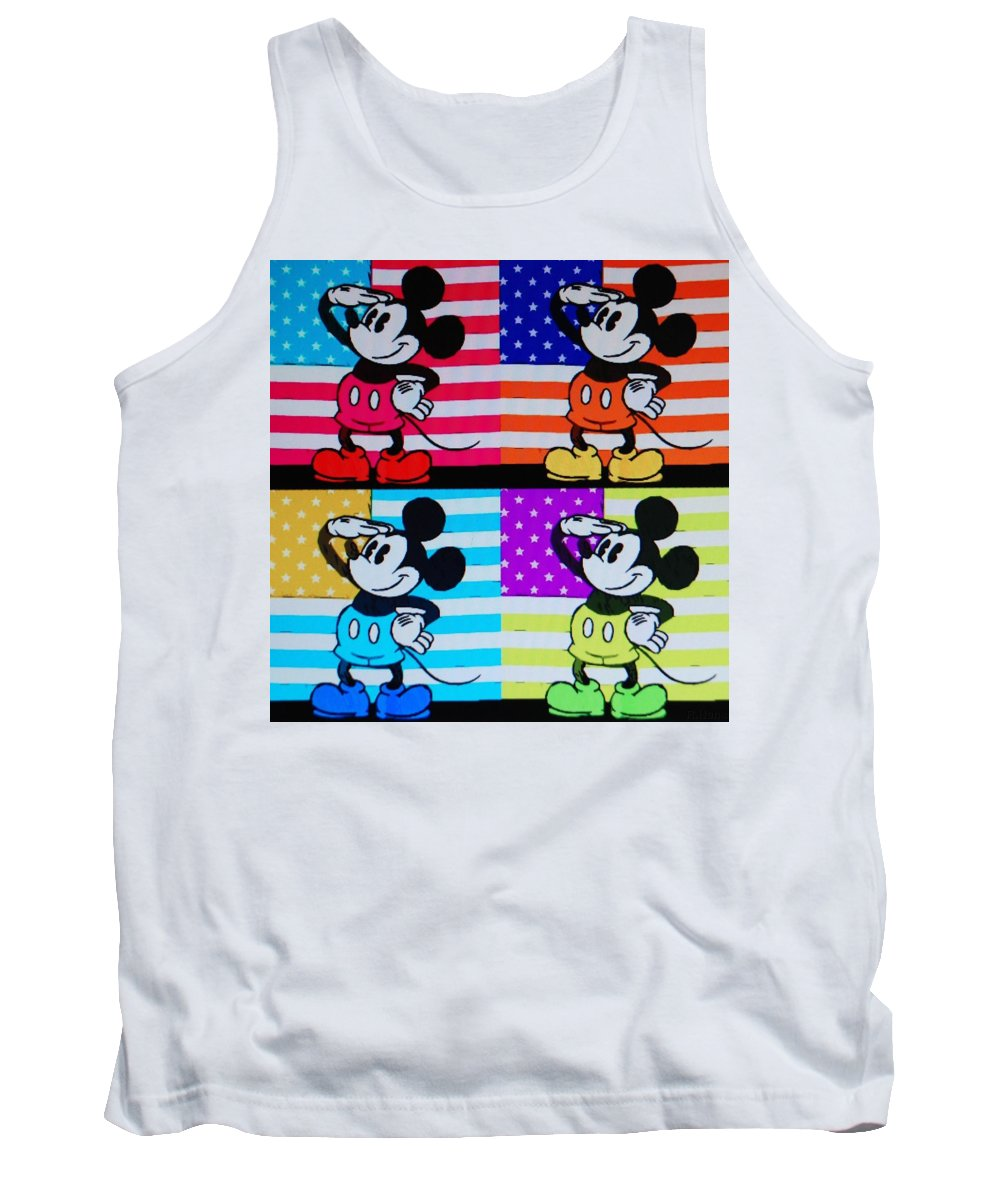 Mickey Mouse Tank Top featuring the photograph American Mickey by Rob Hans