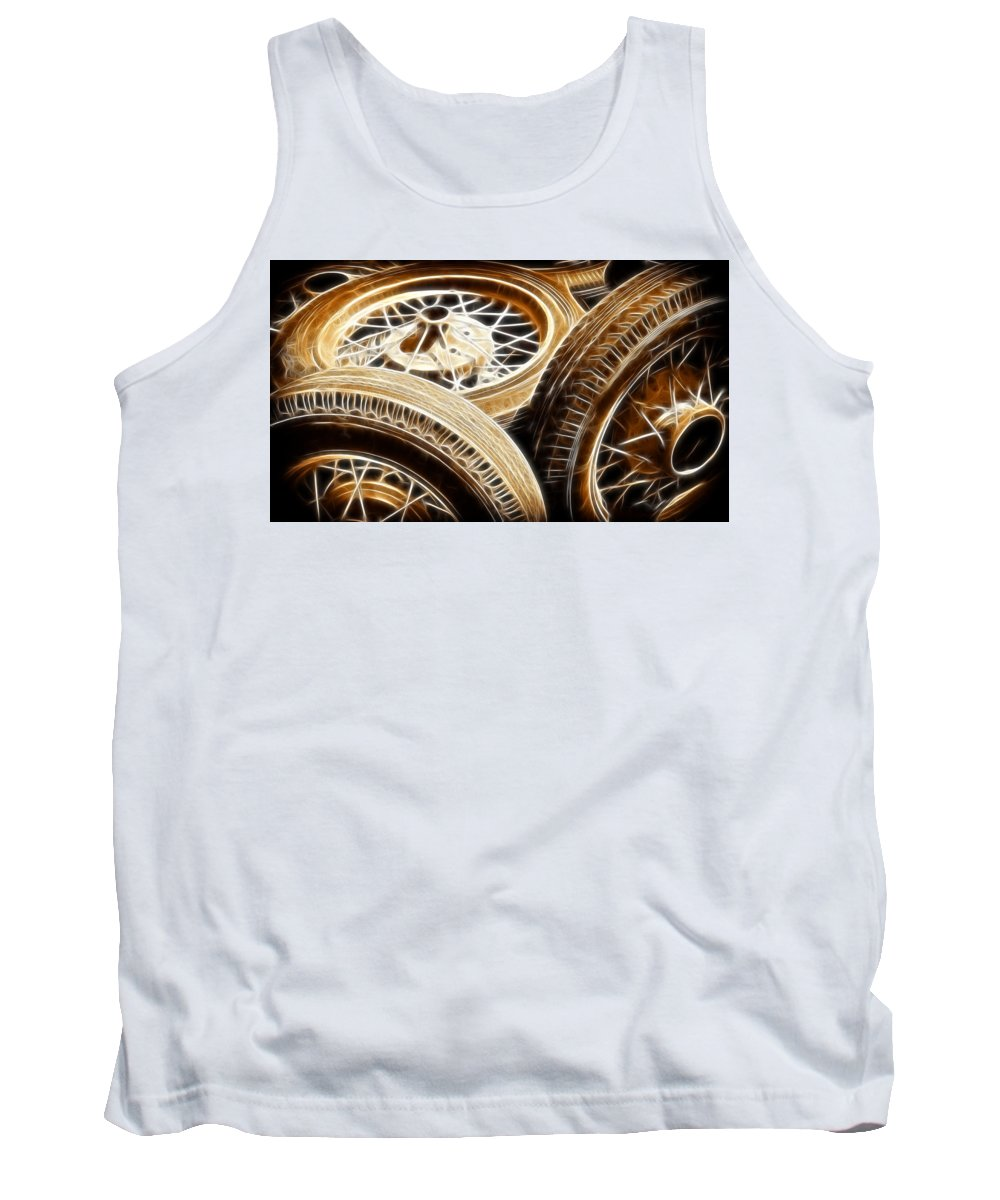 Classic Tank Top featuring the photograph Classic Wheels by Steve McKinzie