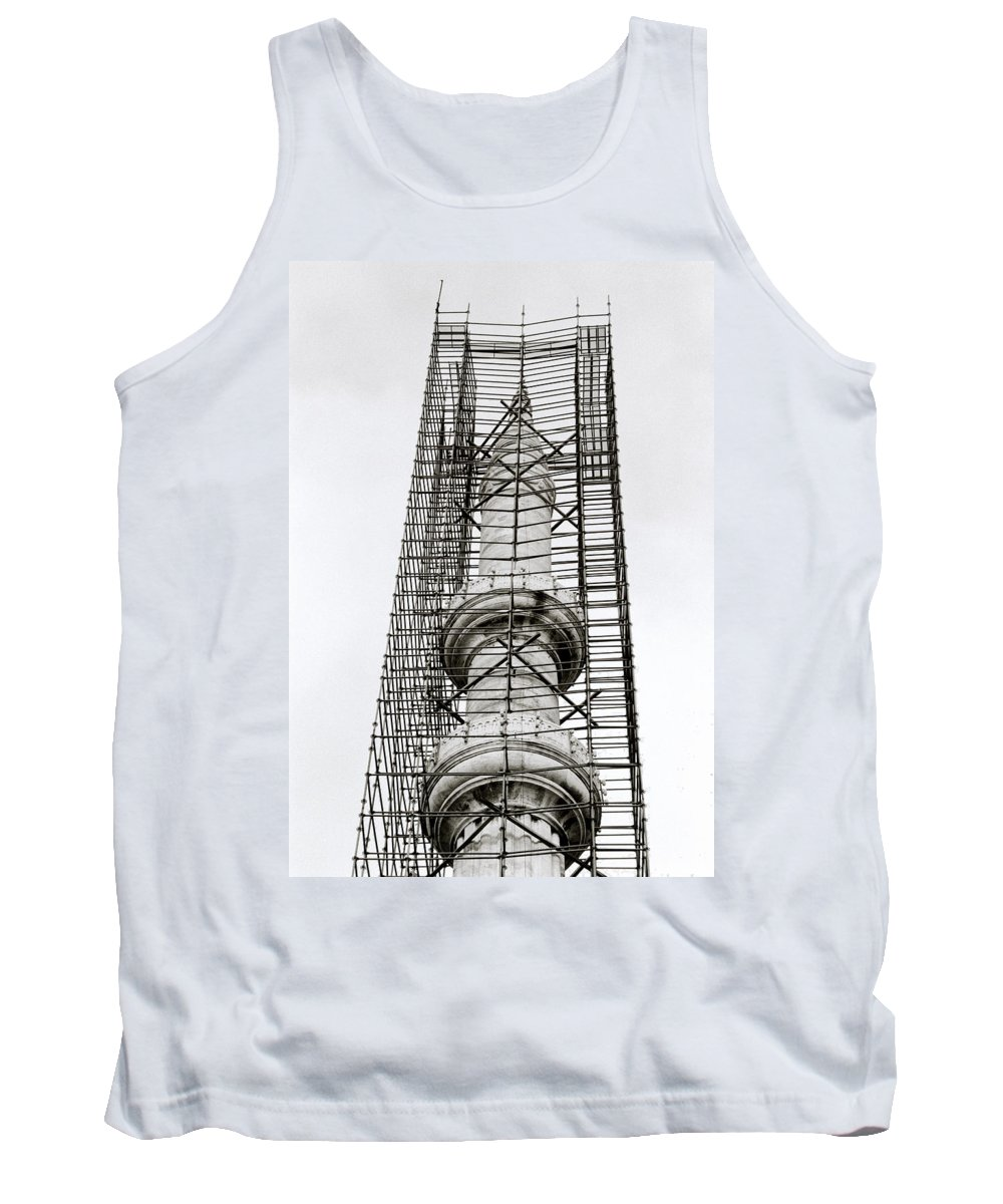Geometry Tank Top featuring the photograph Construction by Shaun Higson