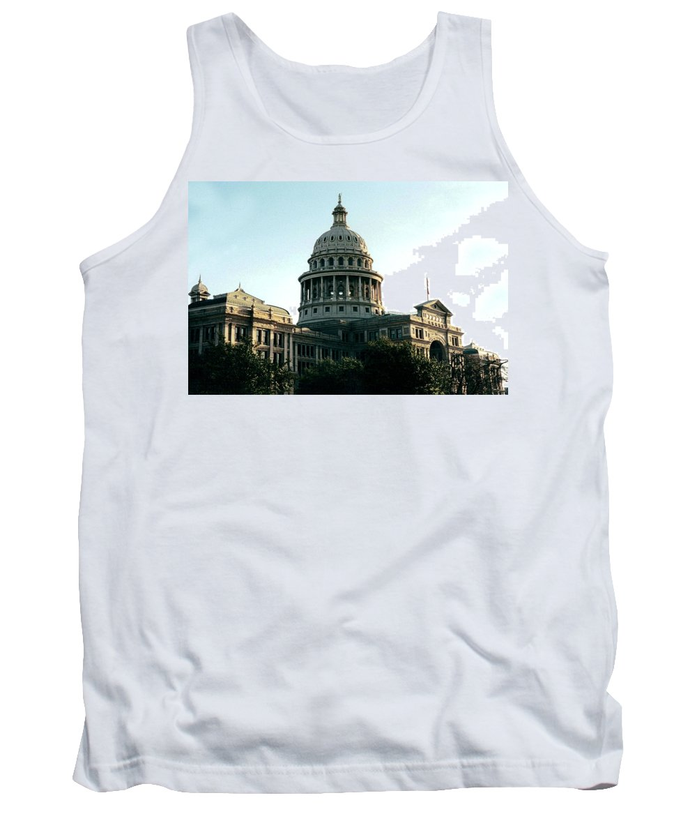 Original Tank Top featuring the photograph Early Morning At The Texas State Capital by J D Owen