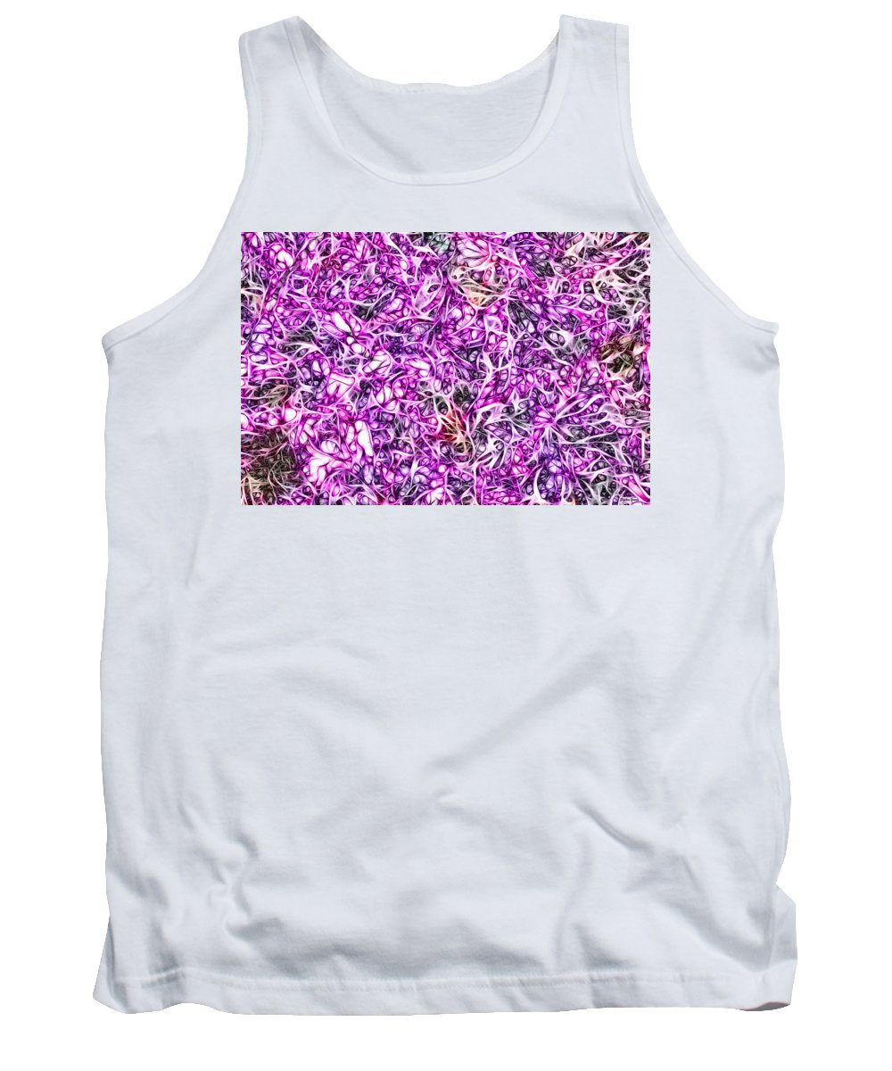 Vine Tank Top featuring the digital art Entwined by Stephen Younts