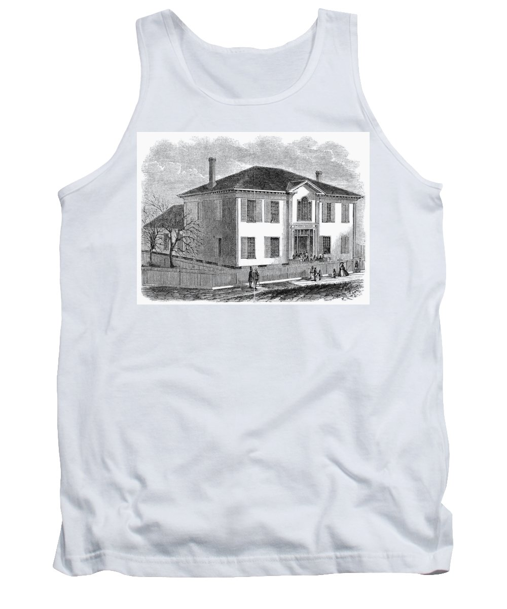 1867 Tank Top featuring the painting Freedmen School, 1867 by Granger