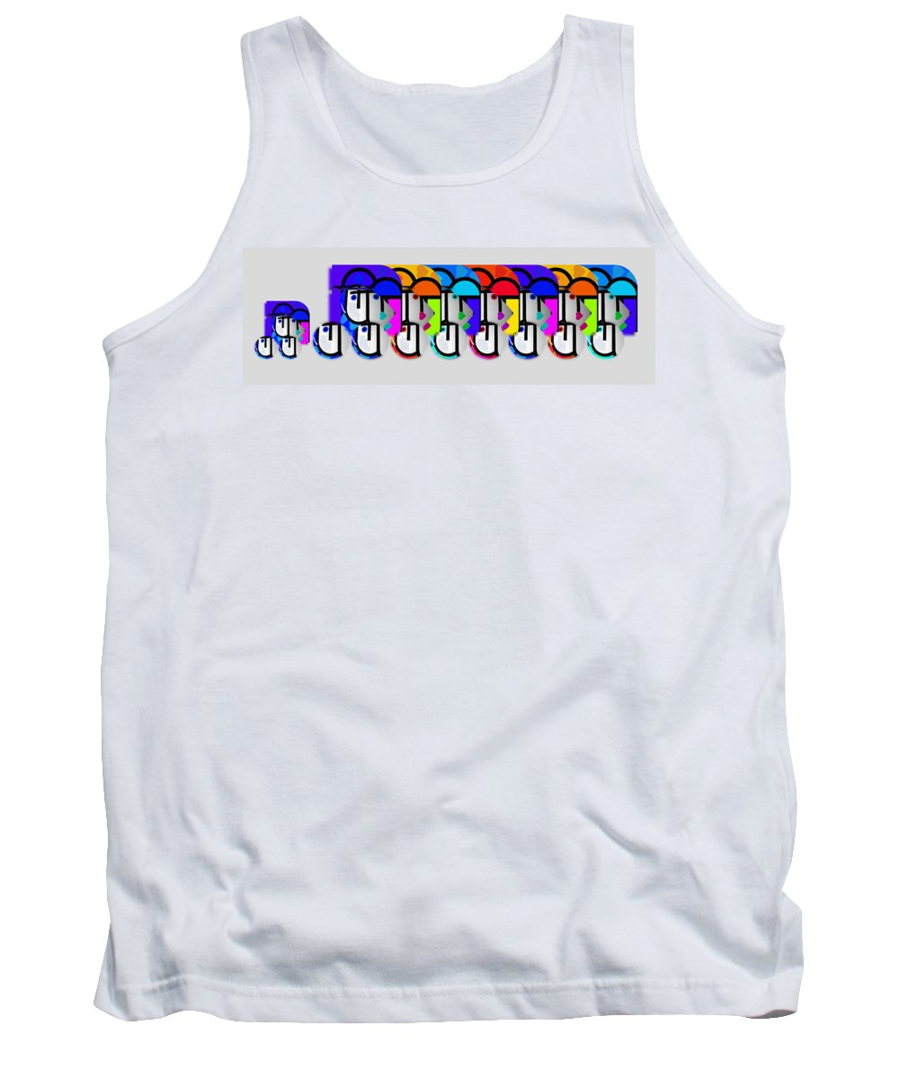Herd Tank Top featuring the painting Herd by Charles Stuart