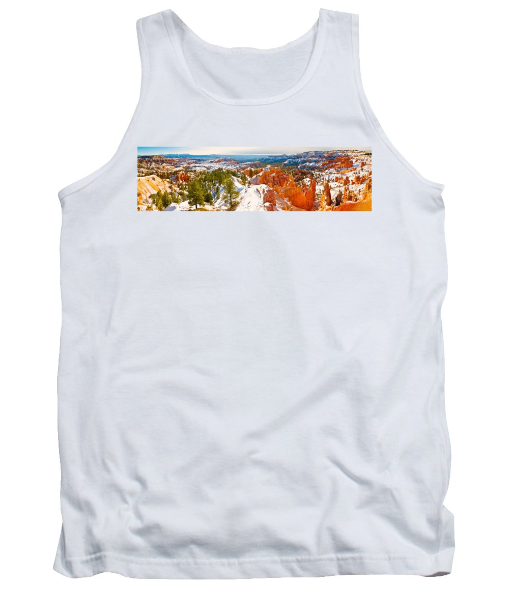 Photography Tank Top featuring the photograph High Angle View Of Rock Formations by Panoramic Images