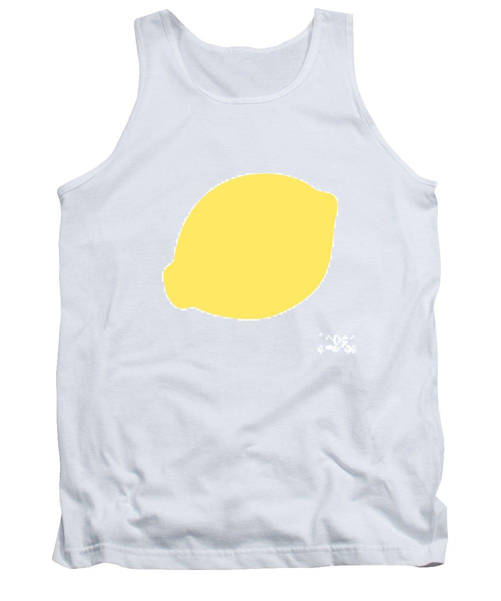 Lemon Tank Top featuring the digital art Lemon by Jackie Farnsworth