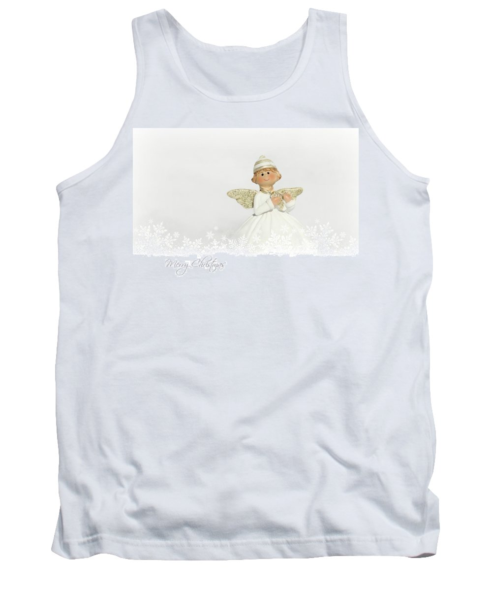 Christmas Tank Top featuring the mixed media Merry Christmas by Heike Hultsch