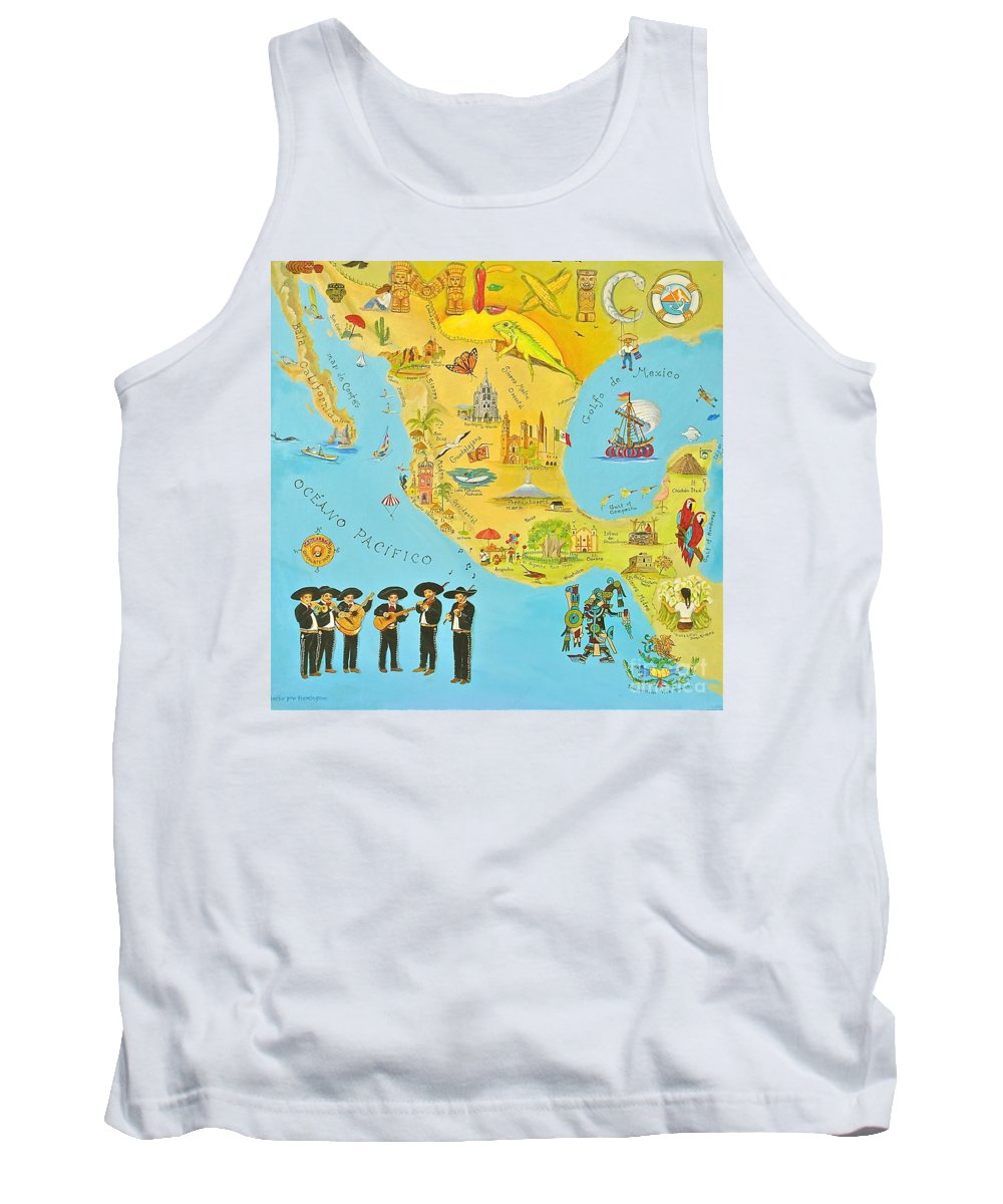 Mexico Tank Top featuring the painting Mexico by Virginia Ann Hemingson