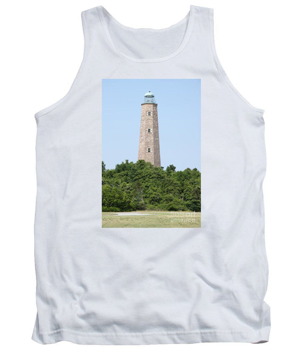 Lighthouse Tank Top featuring the photograph Old Cape Henry Lighthouse by Christiane Schulze Art And Photography