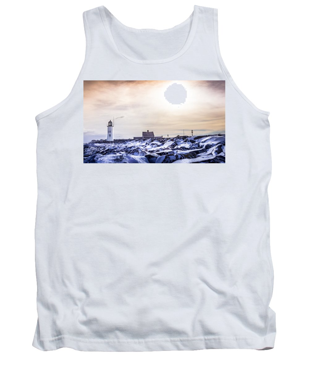 Tank Top featuring the photograph Scituate Light by Dave Simmer