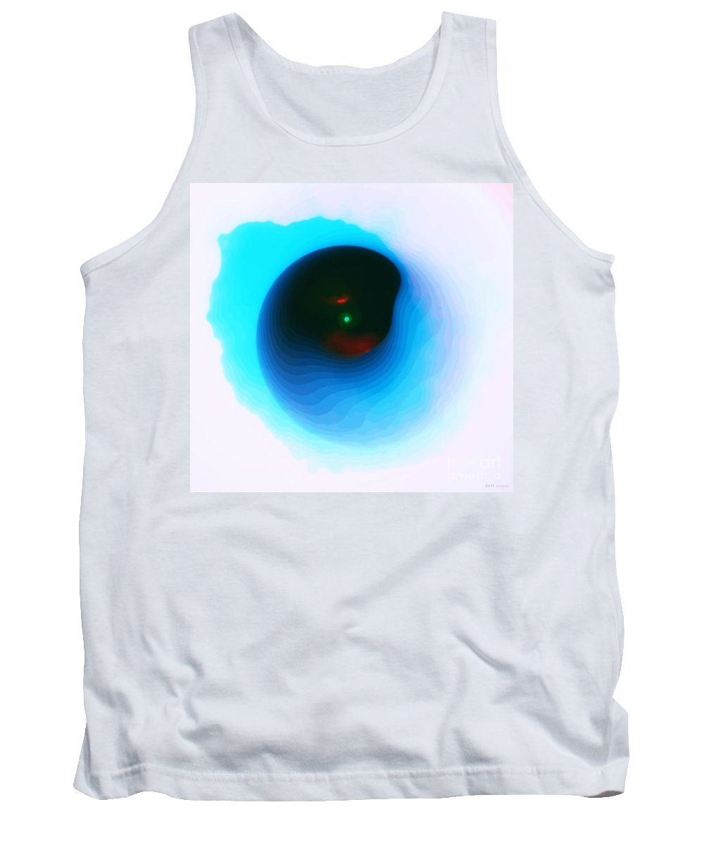 Blue Tank Top featuring the digital art Silent Echo by Elizabeth McTaggart
