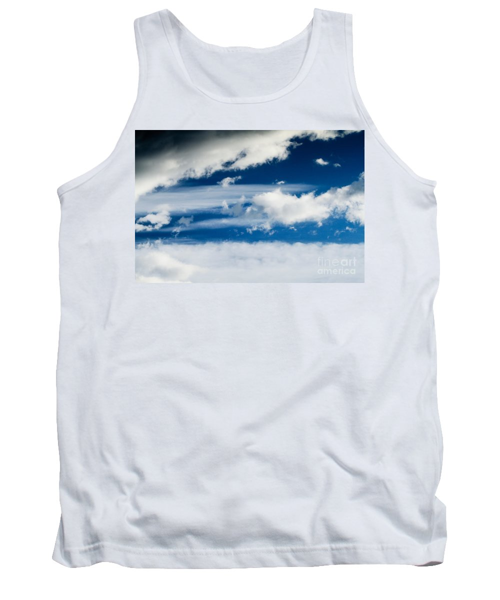 Day Tank Top featuring the photograph Sky With Clouds by Dan Radi
