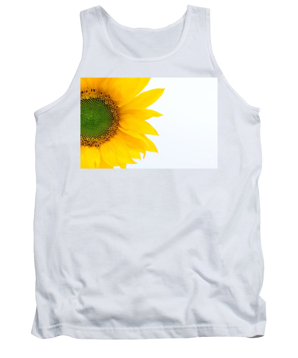 Yellow Tank Top featuring the photograph Sunflower by Michal Bednarek