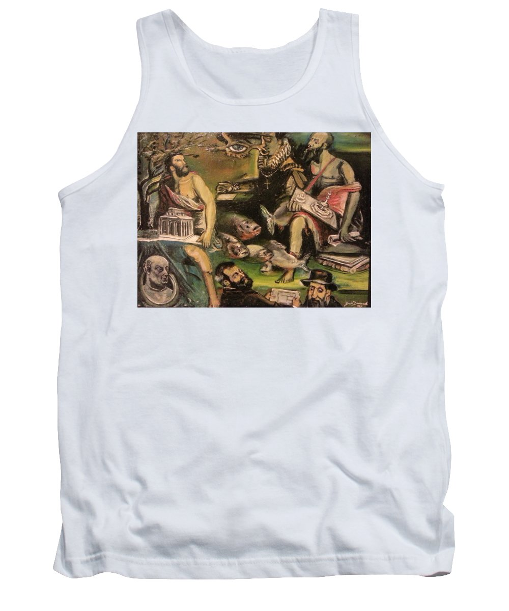 Tank Top featuring the painting The Great Deluge by Jude Darrien