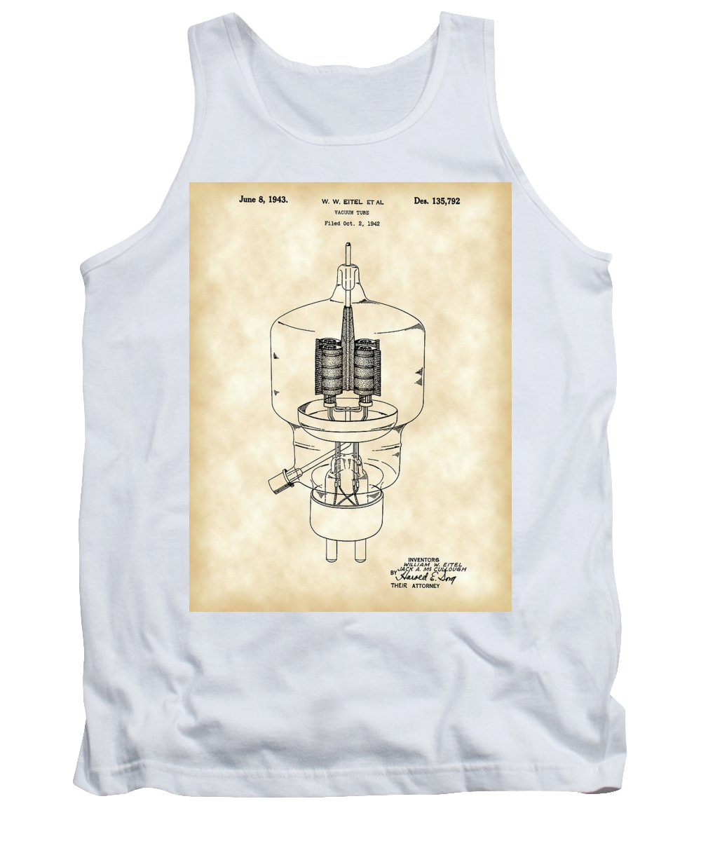Vacuum Tank Top featuring the digital art Vacuum Tube Patent 1942 - Vintage by Stephen Younts