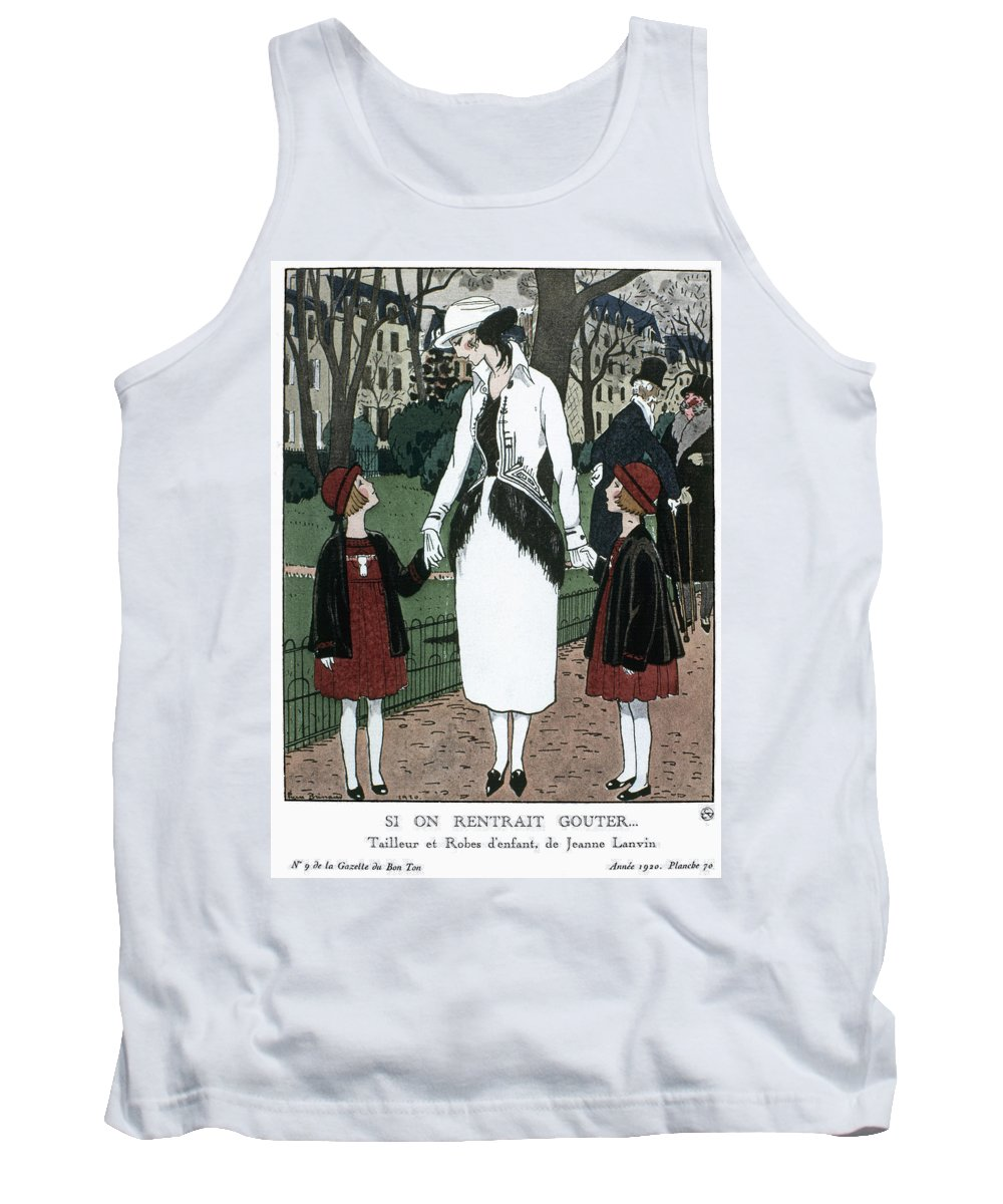 1920 Tank Top featuring the drawing Women's Fashion, 1920 by Granger