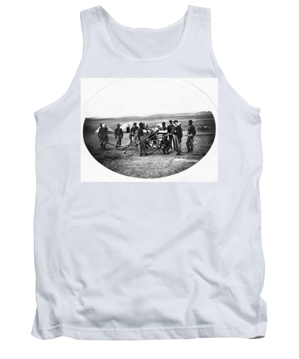 1863 Tank Top featuring the photograph Civil War Black Troops by Granger