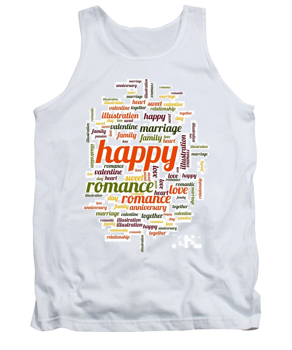 Love Tank Top featuring the digital art Happy by Henrik Lehnerer