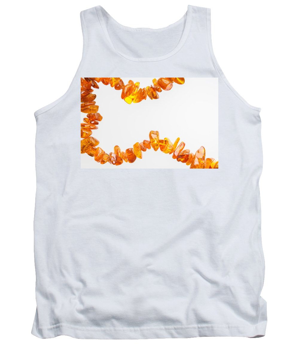 Abstract Tank Top featuring the photograph Natural Amber Necklace by Alain De Maximy