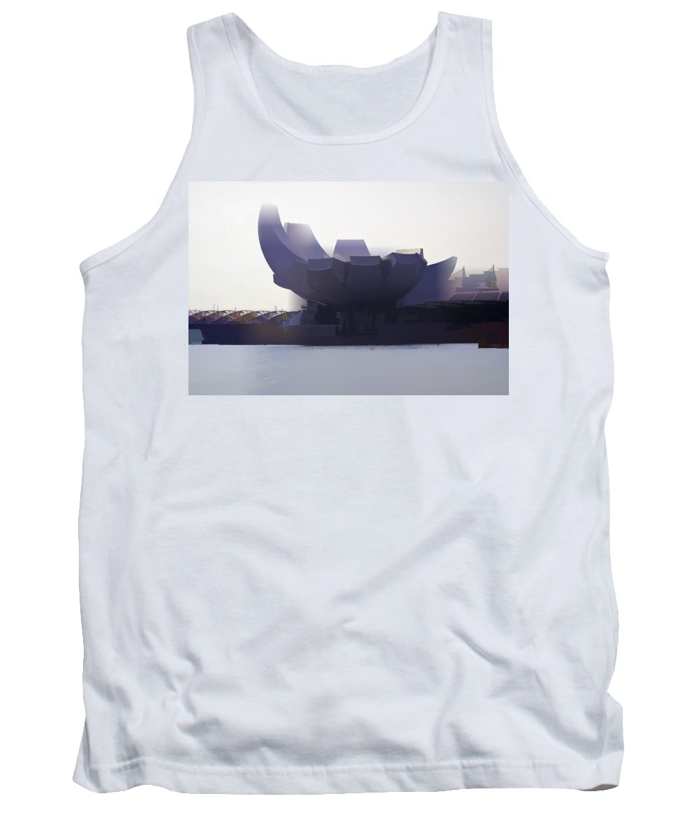 Artscience Museum Tank Top featuring the photograph The Artscience Museum In Singapore by Ashish Agarwal