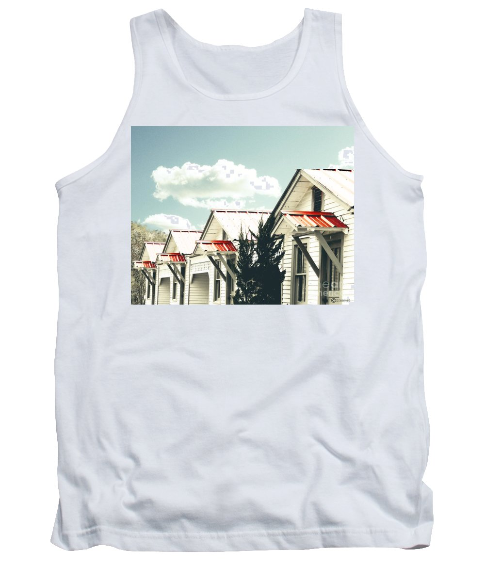 Motel Tank Top featuring the digital art 3-v Motel St Francisville La by Lizi Beard-Ward