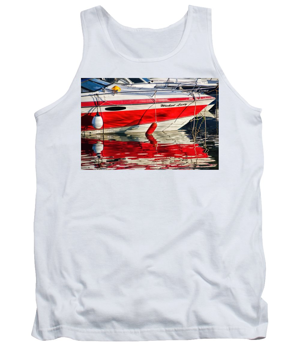 Fishing Tank Top featuring the photograph Lyme Regis Harbour by Susie Peek