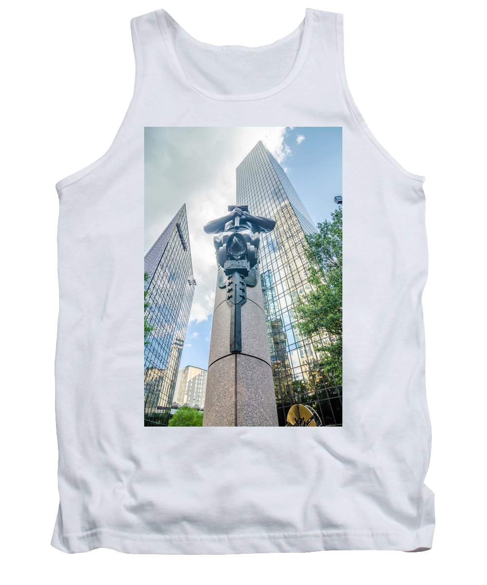 Banking Tank Top featuring the photograph Skyline And City Streets Of Charlotte North Carolina Usa by Alex Grichenko