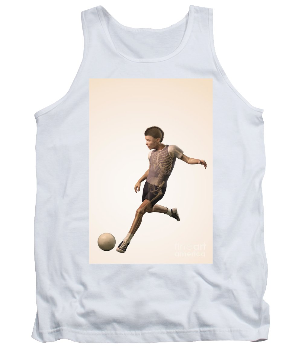 Kick Tank Top featuring the photograph Anatomy Of Movement Child by Science Picture Co