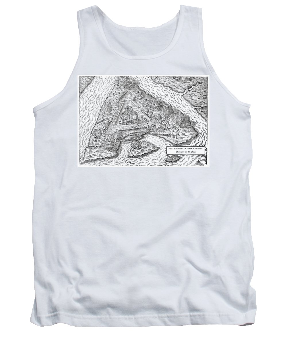 1564 Tank Top featuring the photograph Fort Caroline, 1564 by Granger