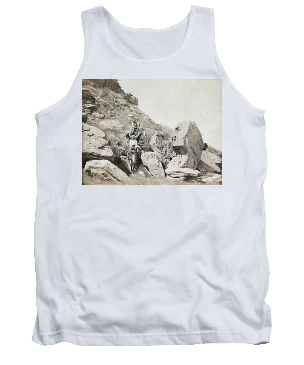 1908 Tank Top featuring the photograph Texas Cowboys, C1908 by Granger