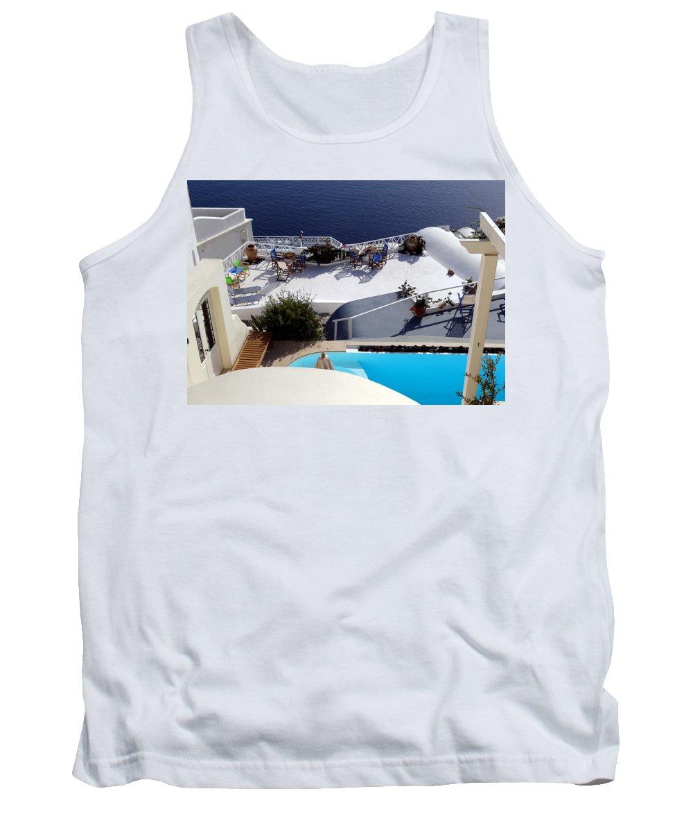Santorini Tank Top featuring the photograph Views Of Santorini Greece by Richard Rosenshein