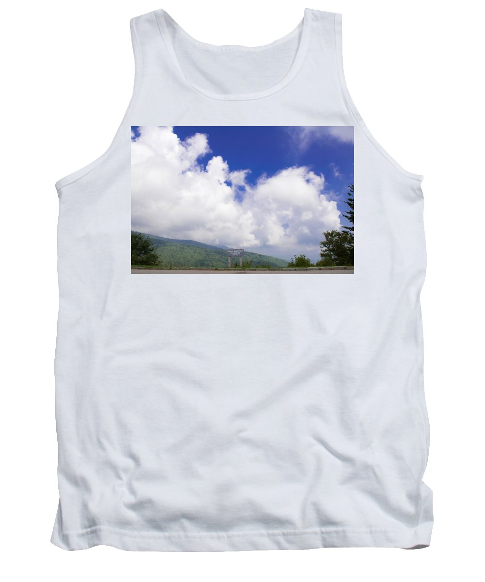 Blue Tank Top featuring the photograph Blue Ridge Parkway by Alex Grichenko