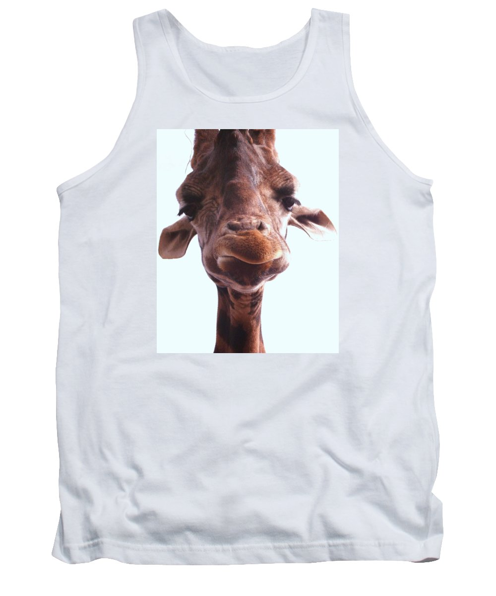 Mammal Tank Top featuring the photograph Giraffe by FL collection