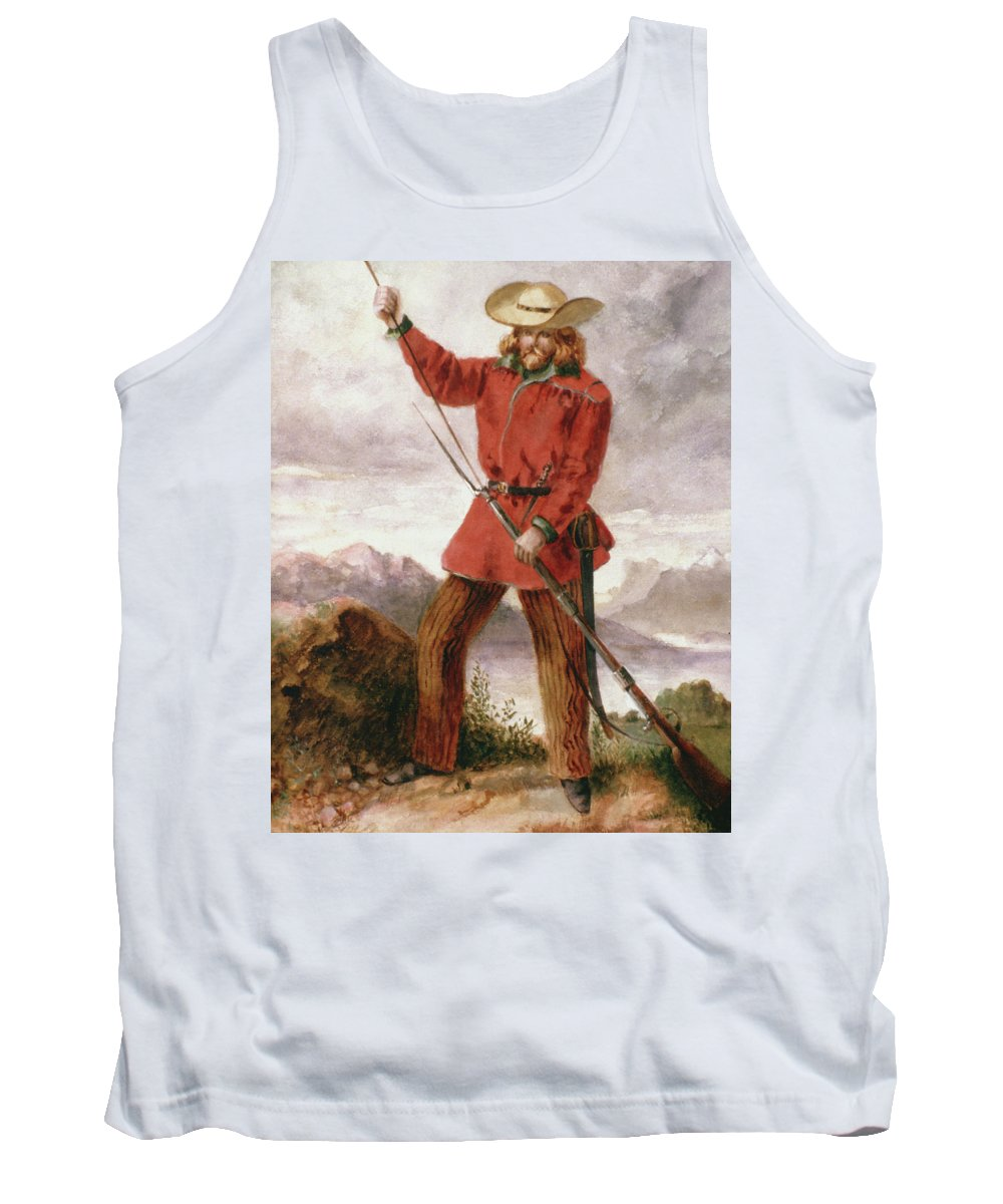 1848 Tank Top featuring the painting Giuseppe Garibaldi (1807-1882) by Granger